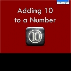 Adding 10 to a Number