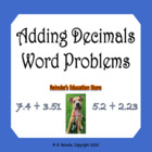 Adding Decimals Word Problems (3 worksheets)