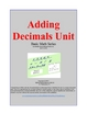 Adding Decimals and Multiplying Decimals Combined Units