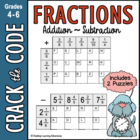 Adding Fractions: Like & Unlike Denominators ~ Crack the Code!