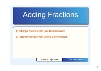 Adding Fractions on the SMARTboard
