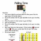 Adding Tens Math Center - Intro to 2-Digit Addition with a
