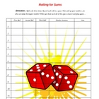 "Adding Three Numbers - ""Rolling for Sums"""
