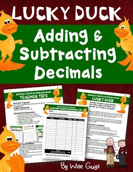 Adding and Subtracting Decimals: Lucky Duck Candy Bar Activity