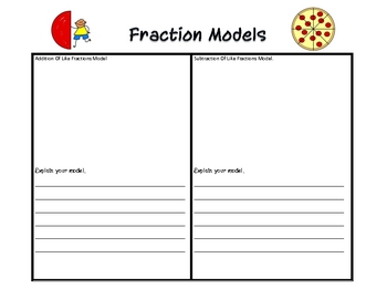 Adding and Subtracting Fractions Model Task
