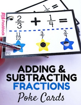Adding and Subtracting Fractions Star Poke Game (common co