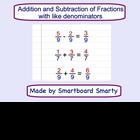 Adding and Subtracting Fractions w/like denominators Smart