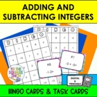 Adding and Subtracting Integers Bingo and Task Cards, Comm