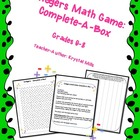 Adding and Subtracting Integers: Math Game and Quiz (Grades 6-8)