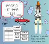 Adding -er and -est SmartBoard Lesson for Primary Grades