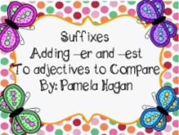 Adding er and est to Adjectives Springtime Smartboard