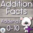 Addition Basic Facts 0-10's Practice Sheet