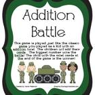 Addition Battle-Math Center-Sums to 20