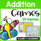 Addition Board Games With Bees, Bugs and Friends