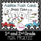 Addition Cards 0-20 with a Racing Theme