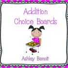 Addition Choice Boards Set 1