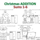 Addition Christmas Mini Set 1 - Sums 1-6