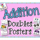 Addition Doubles Posters w/Visuals