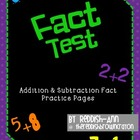 Addition Fact Tests