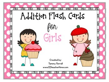 Addition Facts 0-9: Girls Theme