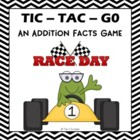 """Addition Facts """"Tic-Tac-Go!"""" Partner Printable Game Activity"""