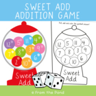 Addition Finger Twist - Addition Print and Play Game for C