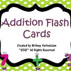 Addition Flash Cards with Answers