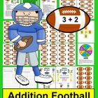 Addition Football Math Centers - Addition Facts to 18 - Co