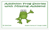 Addition Frog Stories with Missing Addend