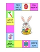 Addition Game (Spring/Easter Themed game board)