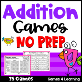 Addition Games NO PREP Pairs and Trios