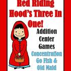 Addition Games Red Riding Hood Concentration, Go Fish and
