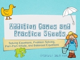 Addition Games and Worksheets