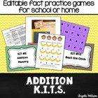 Addition KITs: Fun math fact practice games for centers or