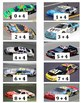 Addition Math Center Games - NASCAR Race Car Theme