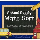 "Addition Math Facts Game- ""Back to School"""