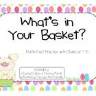 "Addition Math Facts Game- ""What's in Your Basket?"""