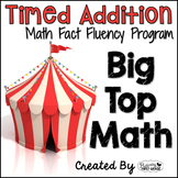 "Addition Math Facts Timed Tests-""Big Top Math"""
