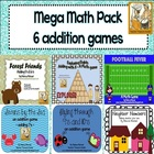 Addition Mega Pack ~ 6 games to practice addition facts!