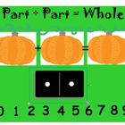 Addition- Part Plus Part Pumpkins SMARTboard