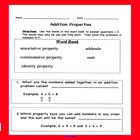 Addition Properties - Associative, Identity, Commutative P