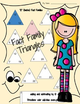 Addition & Subtraction Fact Family Triangles