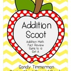 Addition Scoot Math Game Sums to 10 Sets A and B