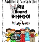 Addition & Subtraction Big Board Bingo FREEBIE