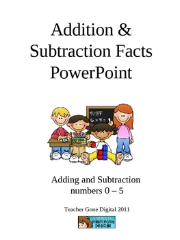 Addition & Subtraction Facts PowerPoint Flashcards
