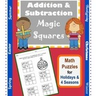 Addition & Subtraction Math Puzzles / Magic Squares / Seas