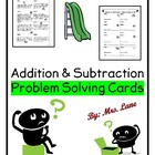 Addition & Subtraction Problem Solving Center or Workstati