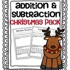 Addition &amp; Subtraction Story Problems {Christmas pack}