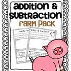 Addition & Subtraction Story Problems {Farm pack}