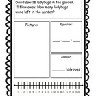Addition & Subtraction Story Problems Set 2, First Grade